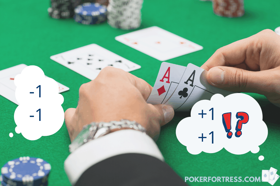 counting cards in poker is not possible