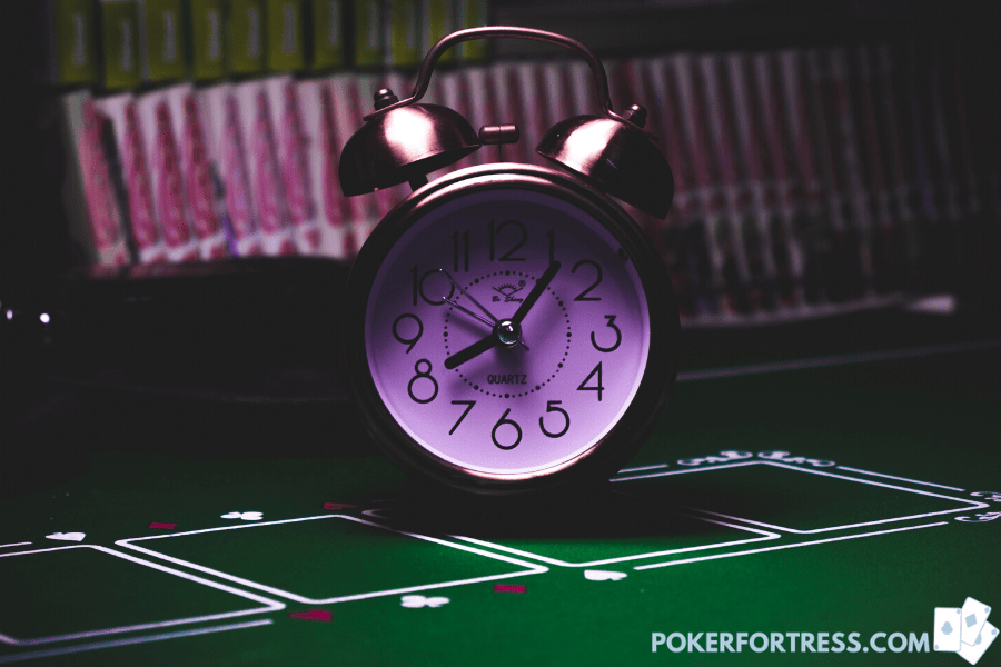 Shot clock in poker