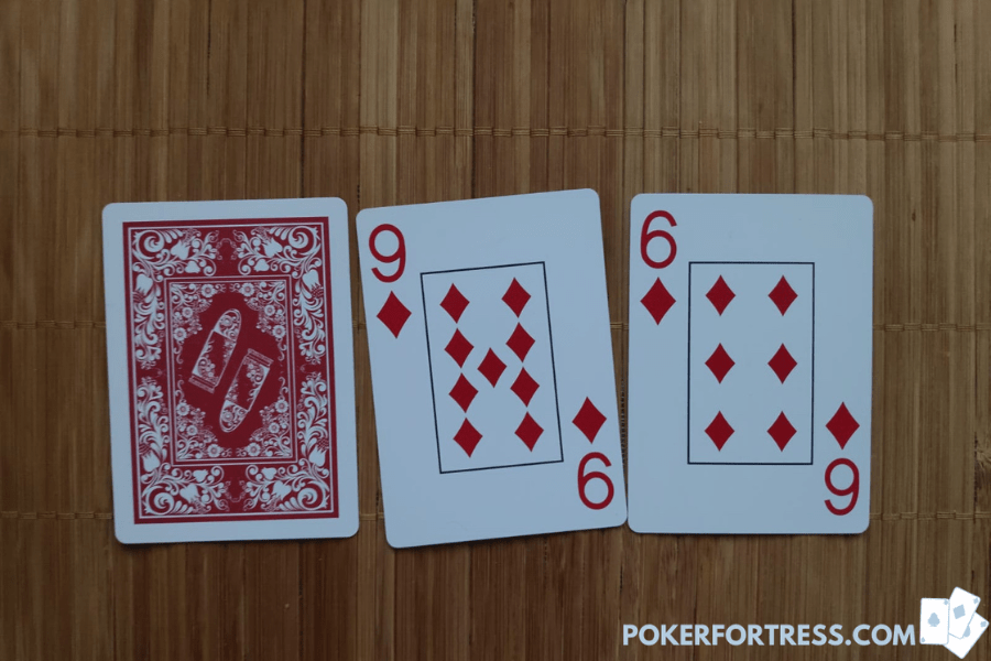 5 card stud 3 hands at start