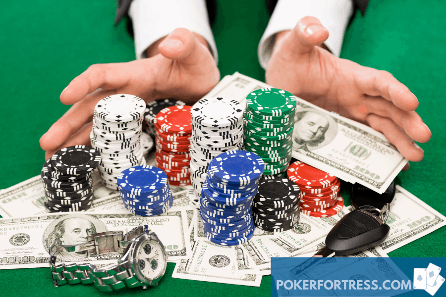 pay off debt with poker chips