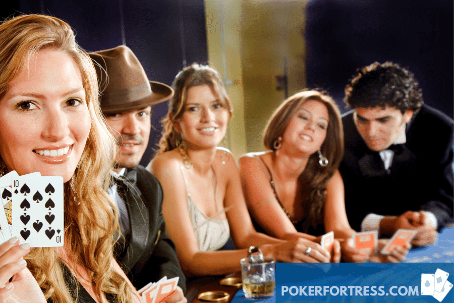 many poker players