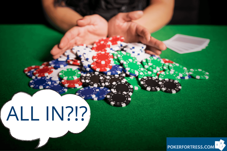 can you shove all-in preflop in texas nolimit holdem?