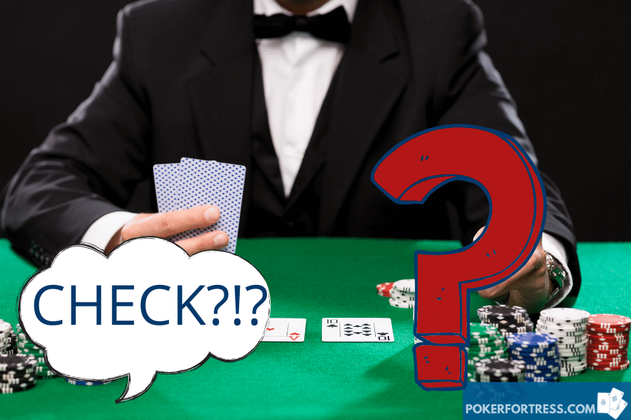 Can you check pre-flop after the big blind?