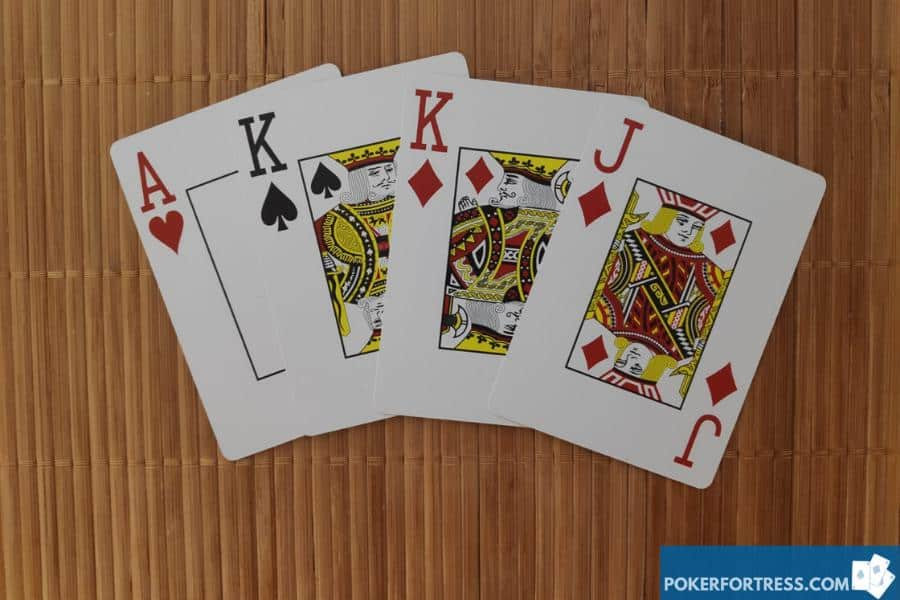 PLO 4 cards in hand.