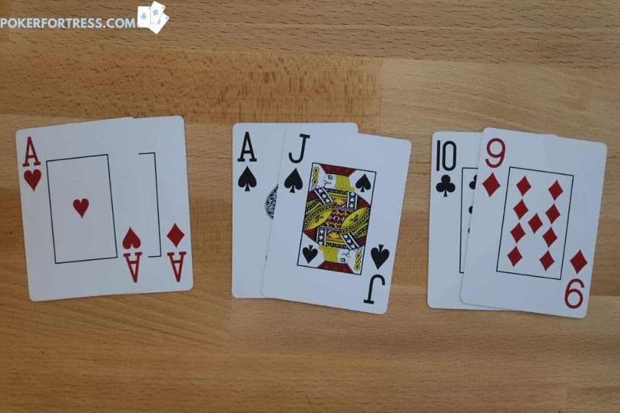 Nut hand preflop in poker.