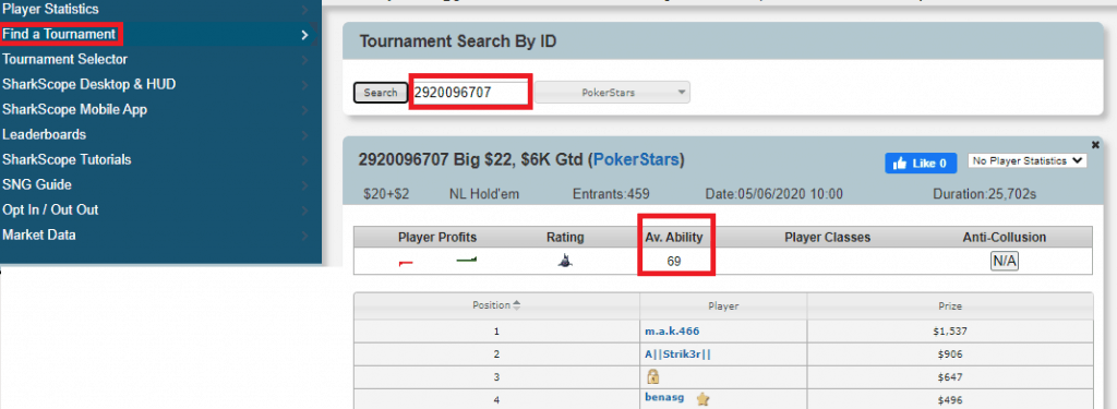 find the softest poker tournaments
