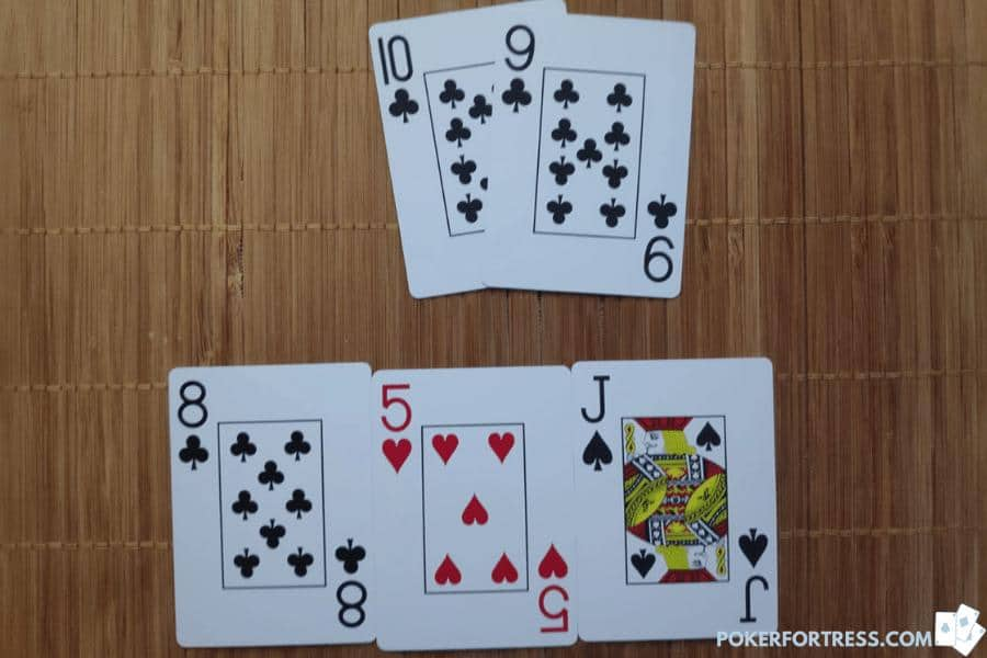 Open ended straight draw against a nit in poker.