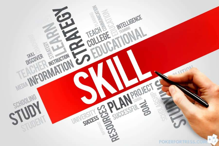 Skill in poker is most important factor to decide if you win or not.