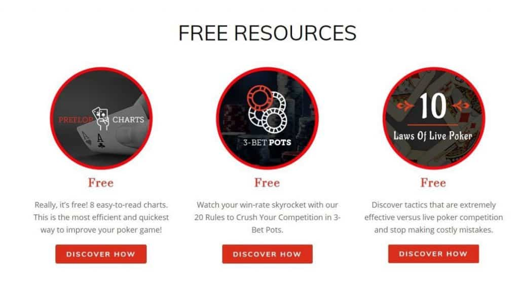 Upswing poker has many free resources.