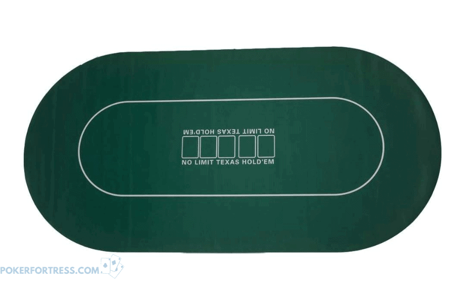 Gameland oval poker mat.