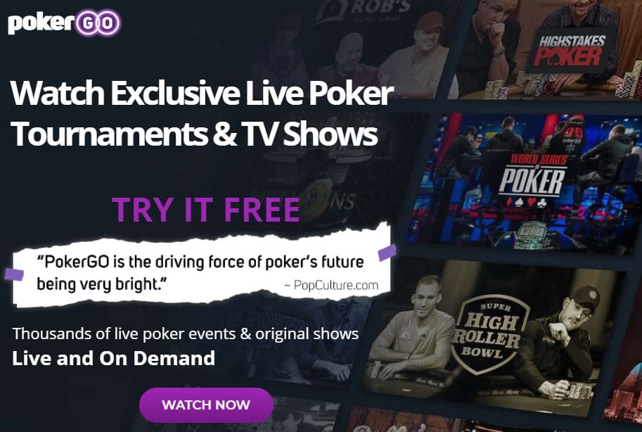 PokerGo is a streaming service for everything poker related.