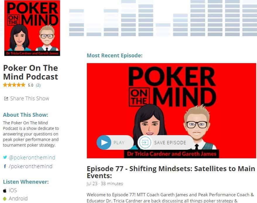 Poker on the mind poker mindset podcast.