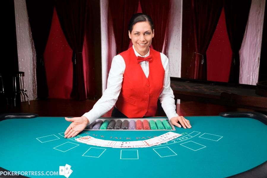 Professional poker deals earn a good income.