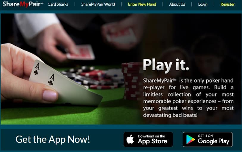 ShareMyPair is a popular hand sharing app.