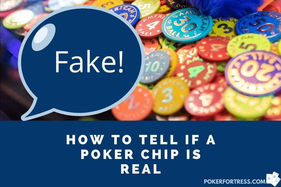 It is hard to tell if a poker chip is real or fake.