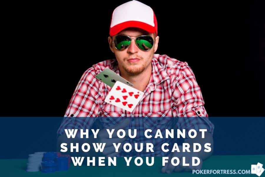 player unable to show cards before his turn in poker
