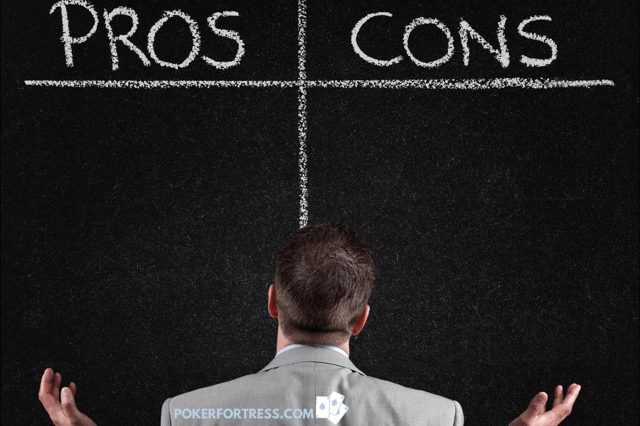 Pros vs. cons of playing poker freerolls.