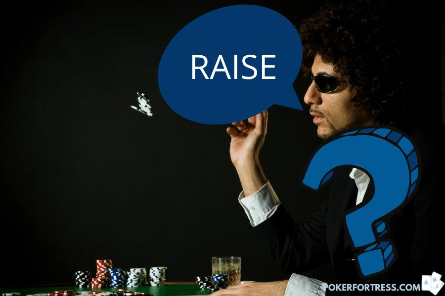 Raising your own bet is an illegal move in poker.